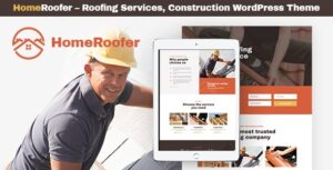 Download free HomeRoofer v1.0.2 – Roofing Company Services & Construction WordPress Theme