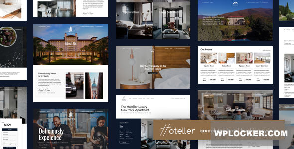 Download free Hoteller v4.4 – Hotel Booking WordPress