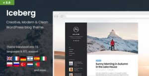 Download free Iceberg v2.0.1 – Simple & Minimal Personal Content-focused