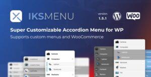 Download free Iks Menu v1.8.2 – Super Customizable Accordion Menu for WordPress