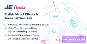 Download free JetTricks v1.2.10 – Visual Effects Addon for Elementor