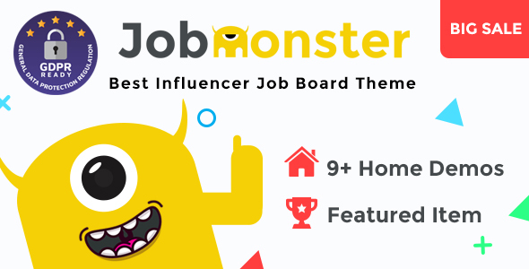 Download free Jobmonster v4.6.2 – Job Board WordPress Theme