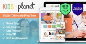 Download free Kids Planet v2.2.4 – A Multipurpose Children WordPress Theme