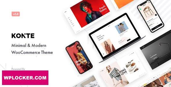 Download free Konte v1.7.3 – Minimal & Modern WooCommerce Theme