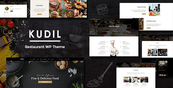 Download free Kudil v1.8 – Cafe, Restaurant WordPress Theme