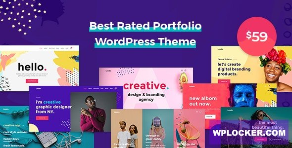 Download free Leedo v1.3.8 – Modern, Colorful & Creative Portfolio WordPress Theme