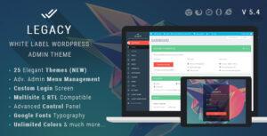 Download free Legacy v8.1 – White label WordPress Admin Theme