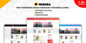 Download free Madara v1.6.4.1 – WordPress Theme for Manga