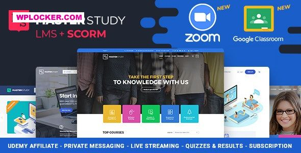 Download free Masterstudy v3.5.1 – Education Center WordPress Theme