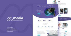 Download free Medio v1.4.3 – Medical Organization WordPress Theme