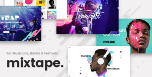 Download free Mixtape v1.8 – Music Theme for Artists, Bands, and Festivals