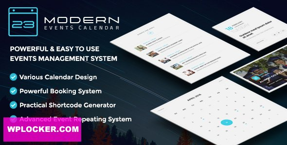 Download free Modern Events Calendar v5.8.0 – Responsive Event Scheduler