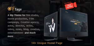 Download free Movie Production, Film studio, Creative & Entertainment WordPress Theme v3.0