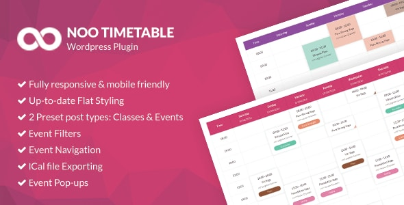 Download free Noo Timetable v2.0.6.2 – Responsive Calendar & Auto Sync