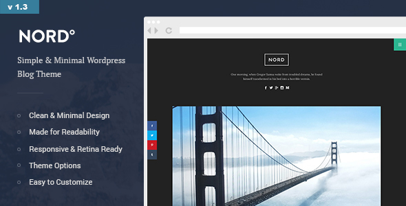 Download free Nord v1.4 – Simple, Minimal and Clean WordPress