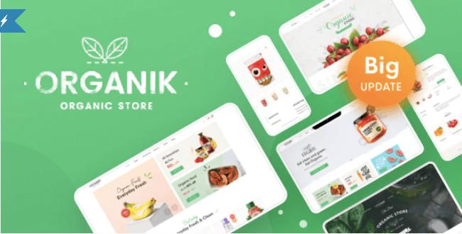 Download free Organie v2.8.6 – Organic Food Store WordPress Theme