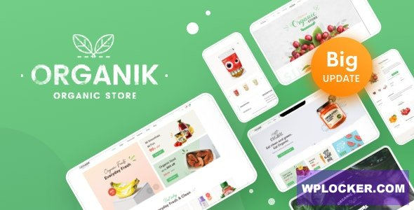 Download free Organik v2.8.6 – An Appealing Organic Store