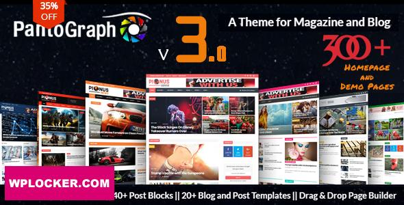 Download free PantoGraph v3.4.2 – Newspaper Magazine Theme