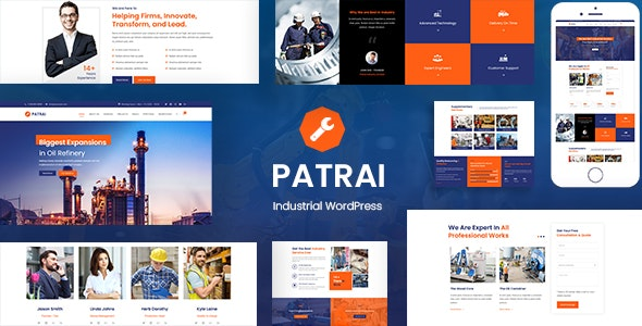 Download free Patrai Industry v1.5 – Industrial WordPress