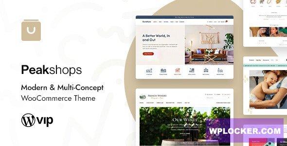Download free PeakShops v1.2.1 – Modern & Multi-Concept WooCommerce Theme