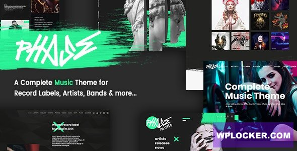 Download free Phase v1.4.0 – A Complete Music WordPress Theme for Record Labels and Artists