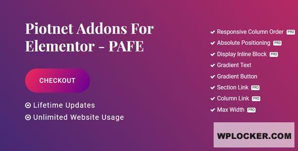 Download free Piotnet Addons Pro For Elementor v6.3.9