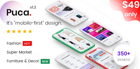 Download free Puca v2.0.2 – Optimized Mobile WooCommerce Theme