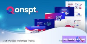 Download free Qonspt v1.2.0 – Isometric MultiPurpose WordPress Theme