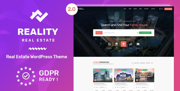 Download free Reality v2.5.6 – Real Estate WordPress Theme