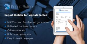 Download free Report Builder add-on for wpDataTables v1.1.8