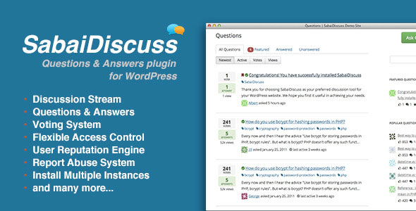 Download free Sabai Discuss for WordPress v1.4.9