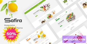 Download free Safira v1.0 – Food & Organic WooCommerce WordPress Theme