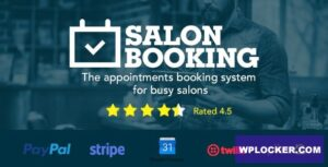 Download free Salon Booking v3.4.3.2 – WordPress Plugin