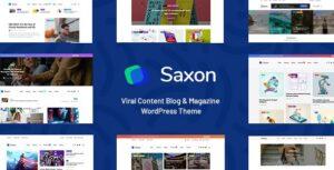 Download free Saxon v1.7.5 – Viral Content Blog & Magazine Theme