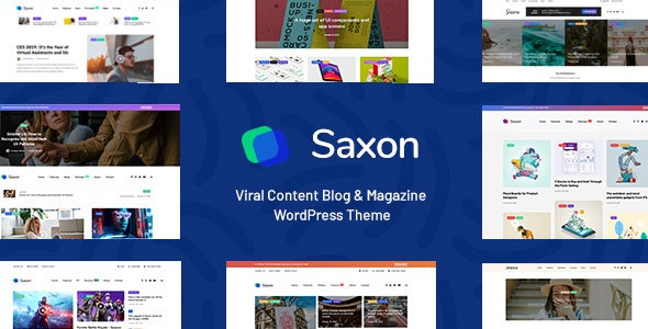 Download free Saxon v1.7.5 – Viral Content Blog & Magazine Theme