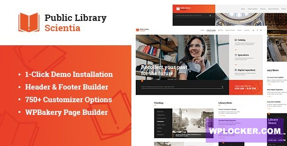 Download free Scientia v1.0.1 – Public Library & Book Store Education WordPress Theme