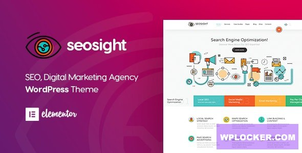 Download free Seosight v4.5 – SEO Digital Marketing Agency Theme