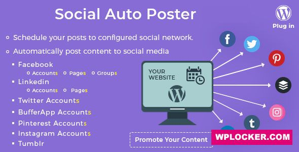 Download free Social Auto Poster v3.7.0 – WordPress Plugin