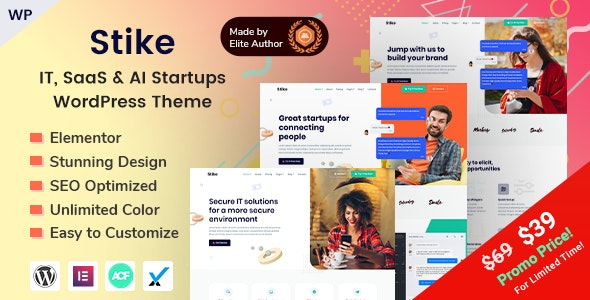 Download free Stike v2.0.0 – IT Startups WordPress Theme