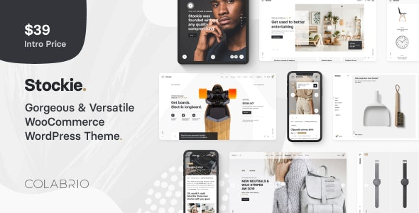 Download free Stockie v1.1.5 – Multi-purpose Creative WooCommerce Theme