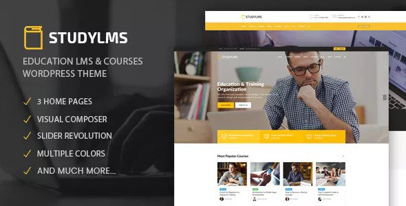 Download free Studylms v1.15 – Education LMS & Courses Theme