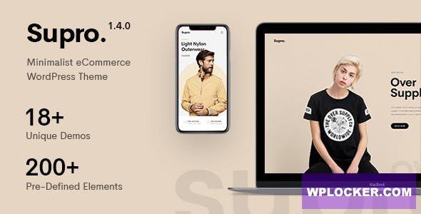 Download free Supro v1.5.6 – Minimalist AJAX WooCommerce WordPress Theme