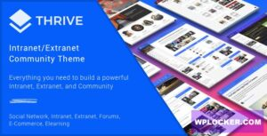 Download free Thrive v3.1.9 – Intranet & Community WordPress Theme