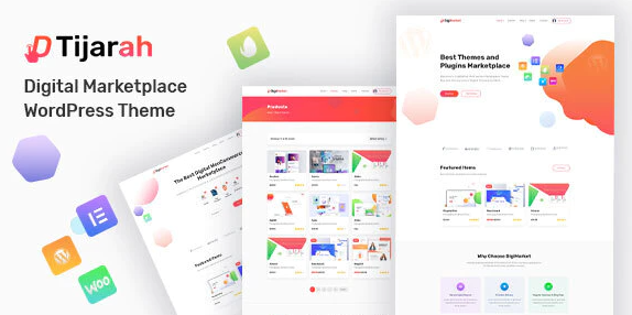 Download free Tijarah v1.2.1 – Digital Marketplace WooCommerce Theme