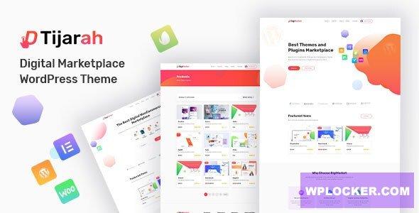 Download free Tijarah v1.2.2 – Digital Marketplace WooCommerce Theme