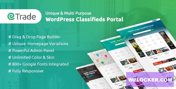 Download free Trade v3.3.6 – Modern Classified Ads WordPress Theme