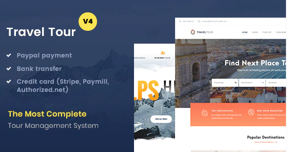 Download free Travel Tour v4.2.1 – Tour Booking, Travel Booking WordPress Theme