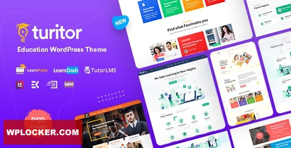 Download free Turitor v1.1.8 – LMS & Education WordPress Theme