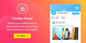 Download free Twitter Feed v1.5.0 – WordPress Twitter Plugin