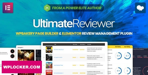 Download free Ultimate Reviewer v2.6.1 – Elementor & WPBakery Page Builder Addon